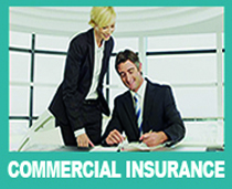 Image of man and women in office to promote Rollins commercial insurance solutions