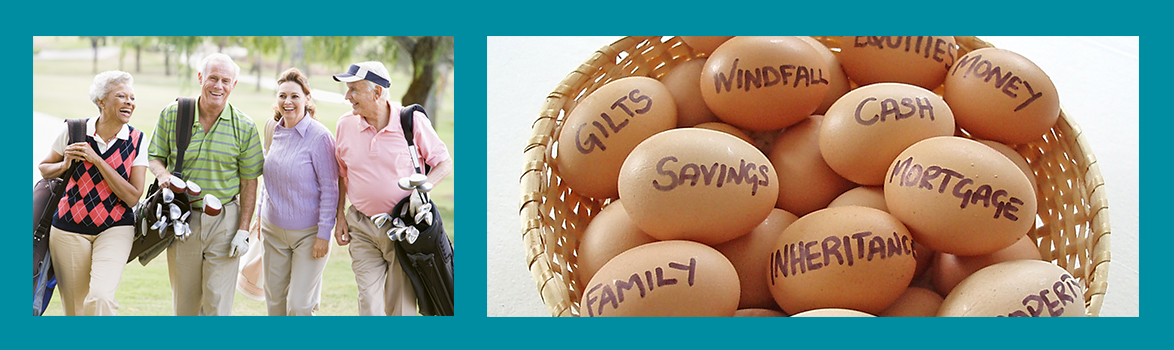 A basket of Rollins financial services for retirement & investment